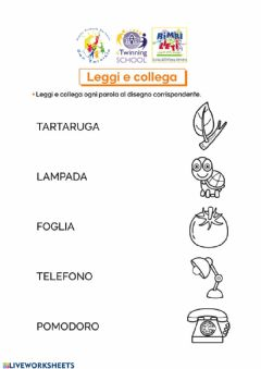 Interactive worksheet Leggi e collega