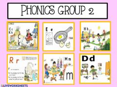 Ficha interactiva Phonics group 2