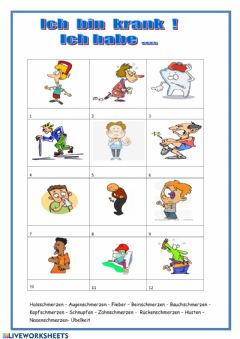 Interactive worksheet Krankheiten
