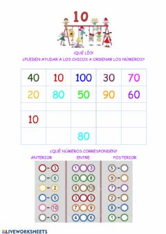 Interactive worksheet Numeración
