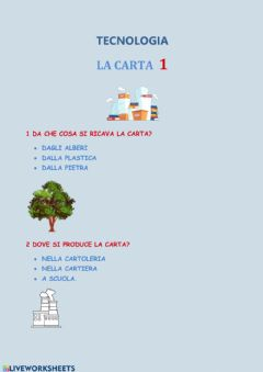 Interactive worksheet La carta-1