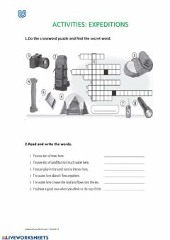 Interactive worksheet Unit 4, Expeditions