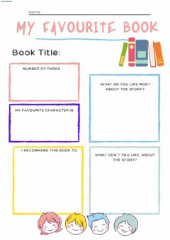 Interactive worksheet My favourite book