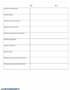 Interactive worksheet Unit 2, Lesson 4