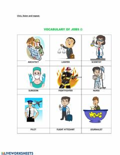 Interactive worksheet Jobs and occupations 2