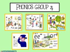 Interactive worksheet Phonics group 4