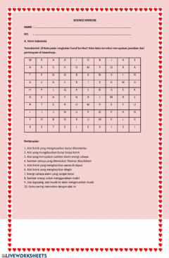 Interactive worksheet Energy and its usages