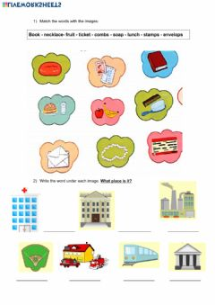 Interactive worksheet Places in the city - + Vocabulary