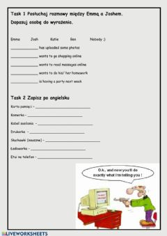 Interactive worksheet Computers and mobiles