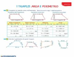 Interactive worksheet Il trapezio