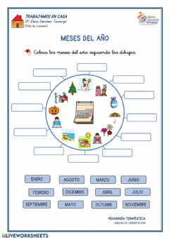Interactive worksheet Meses del año