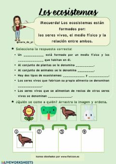 Interactive worksheet Ecosistemas
