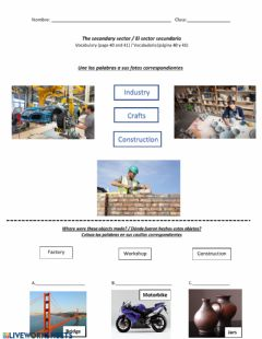 Interactive worksheet The secondary sector