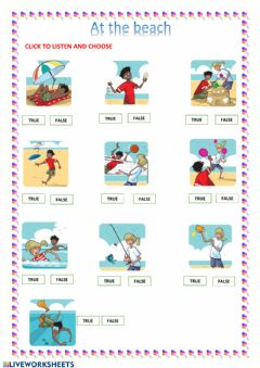 Interactive worksheet Unit 6: At the beach. New Tiger 3