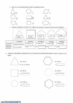 Interactive worksheet Il perimetro