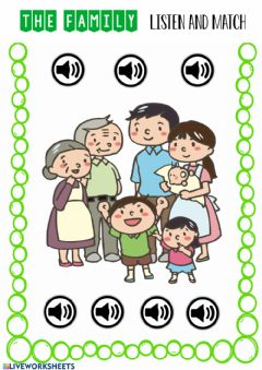 Interactive worksheet The family 1