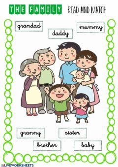 Interactive worksheet The family 2