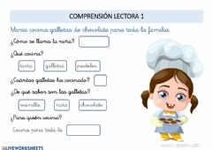 Interactive worksheet Comprensión lectora 1
