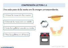 Interactive worksheet Comprensión lectora 1.1