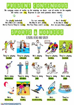 Interactive worksheet Sports and hobbies 1