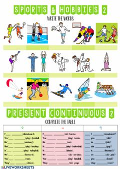 Interactive worksheet Sports and hobbies 2