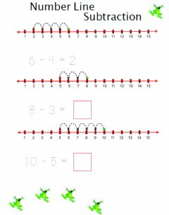 Interactive worksheet Number Line Subtraction