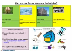 Interactive worksheet Escape with forces (supported)