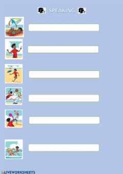 Interactive worksheet Speaking. AT THE BEACH. NEW TIGER 3