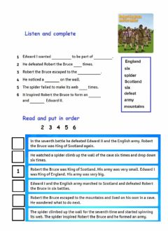 Interactive worksheet Story