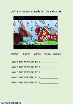 Ficha interactiva how´s the weather song