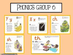 Ficha interactiva Phonics group 6