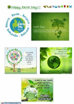 Interactive worksheet HAPPY Earth Day
