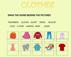 Interactive worksheet Clothes drag and drop