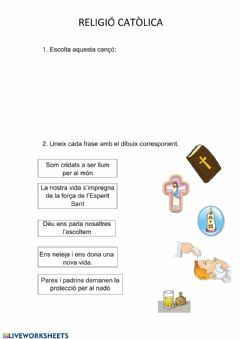 Interactive worksheet Religió 2n 2