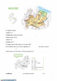 Interactive worksheet Molise