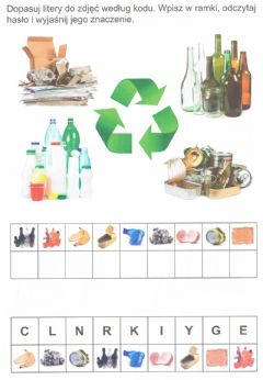 Interactive worksheet Recykling