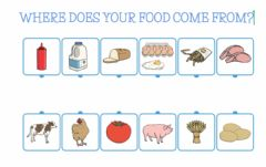 Ficha interactiva Where does your food come from