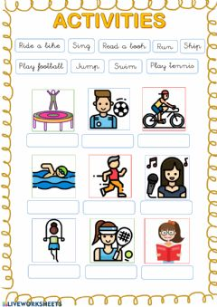 Interactive worksheet Activities drag and drop