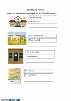 Interactive worksheet Town and places