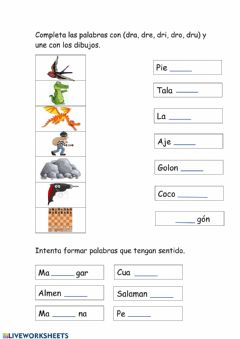 Interactive worksheet Trabada DR