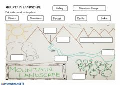 Interactive worksheet Mountain Landscape