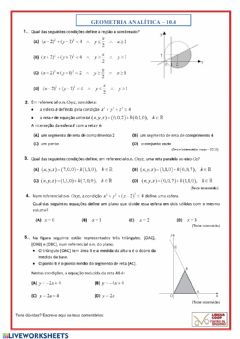 Interactive worksheet Geometria Analitica - 10.4