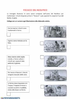 Interactive worksheet Focacce del Neolitico