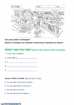 Interactive worksheet What can you see?