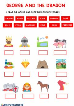 Interactive worksheet George and the dragon 3-4