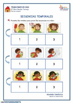 Interactive worksheet Secuencias temporales