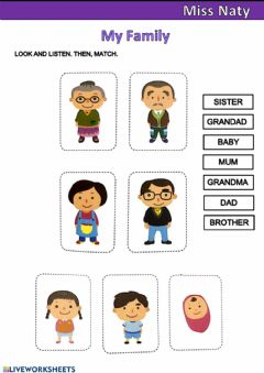 Interactive worksheet My family members!