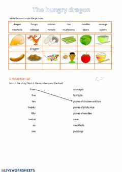Interactive worksheet The hungry dragon