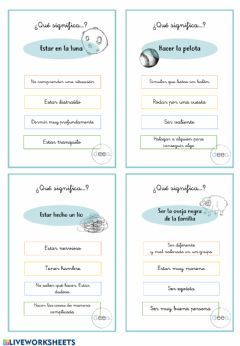 Interactive worksheet Frases hechas ¿qué significa...?
