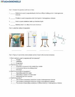 Interactive worksheet Natural Science 6th Grade ESL - Unit 7 Matter and Energy